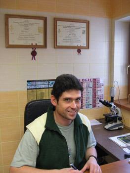 Fotografie MVDr. Petra Vrány v ordinaci v Šenově
